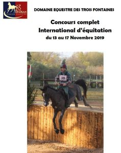 CCE international du Pouget du 13 au 17 novembre 2018