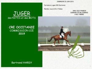 Formation Juges CCE 23 juin 2019 à Trèbes